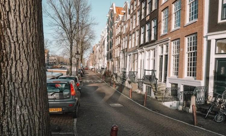 A street in Amsterdam.