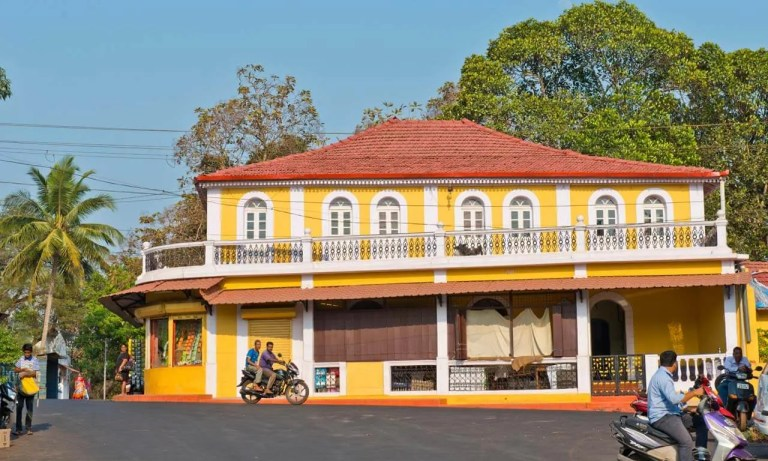 Yellow house in India.