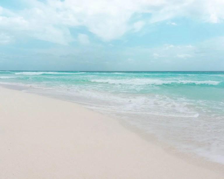 Perfect beach in Cozumel.