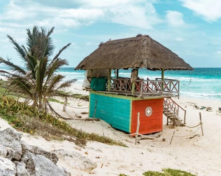 San Martin's beach in Cozumel.