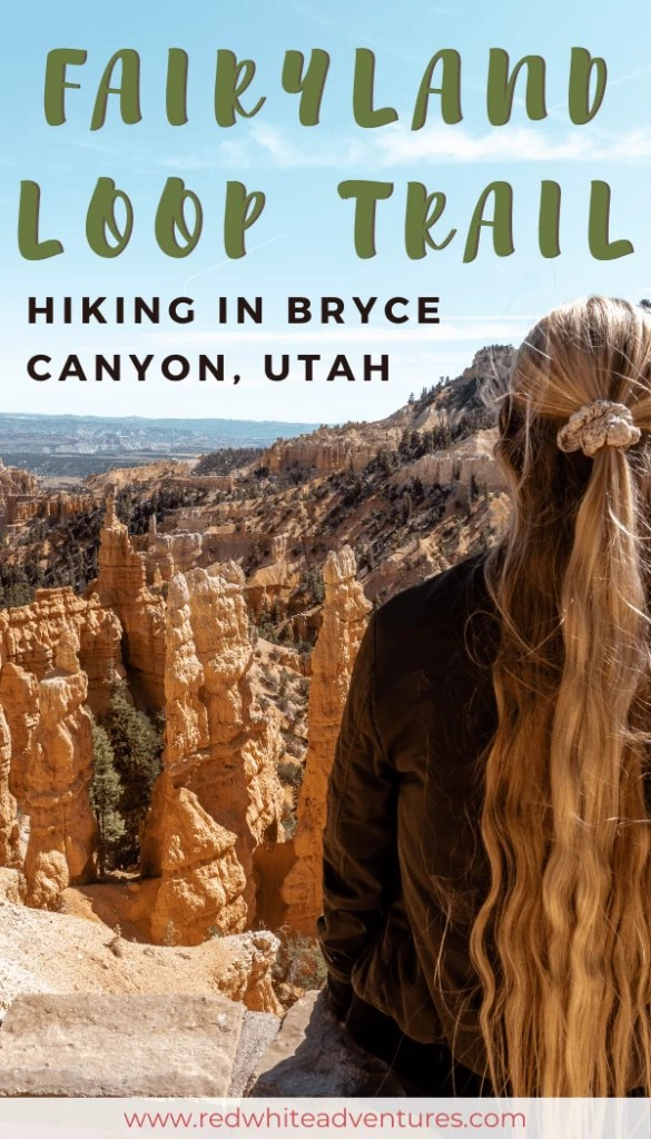 View over Fairyland Loop Trail Bryce Canyon for Pinterest