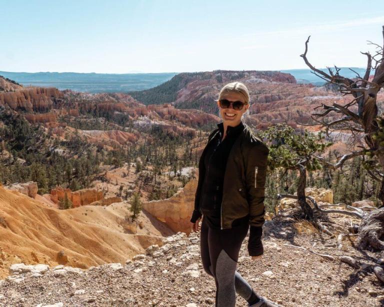 Jo hiking in southern Utah.