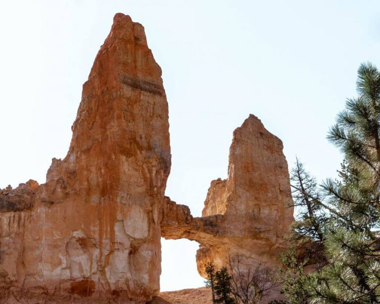 Famous tower bridge rocks in Bryce Canyon.