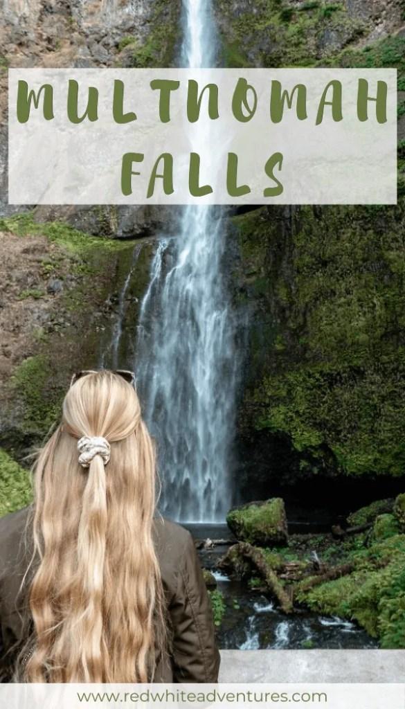Multnomah Falls pin for Pinterest.