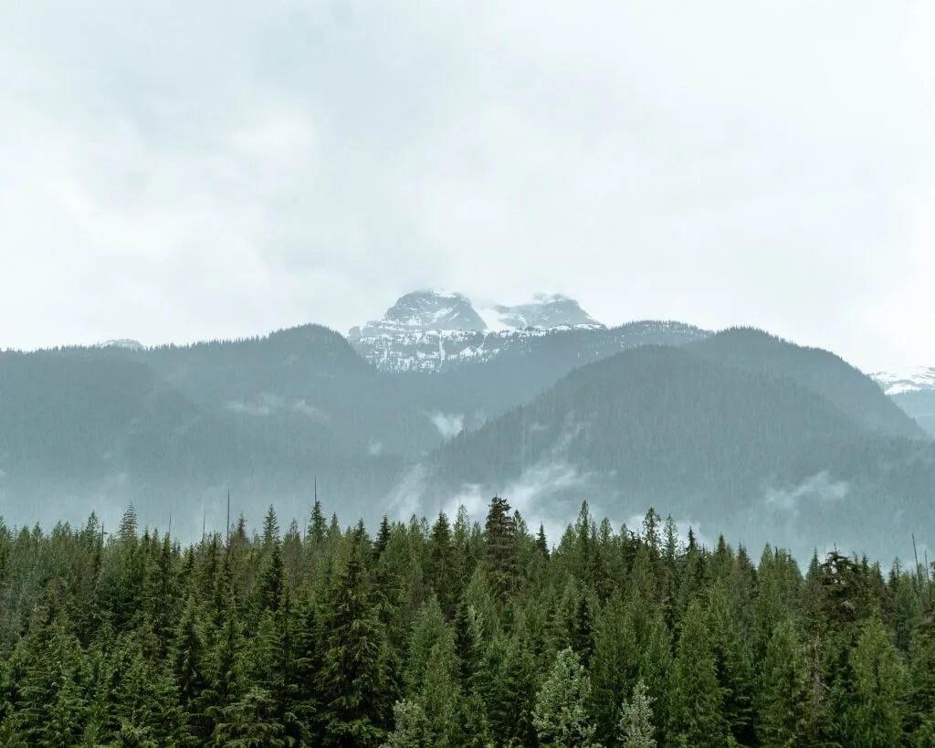 Views of Mount Begbie.