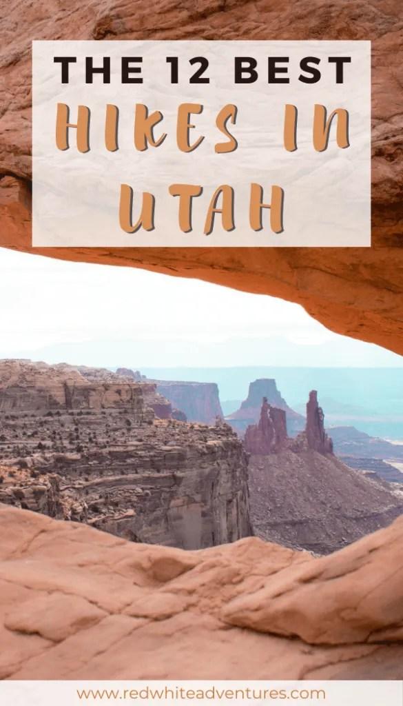 Amazing hikes in Utah Pin for Pinterest.