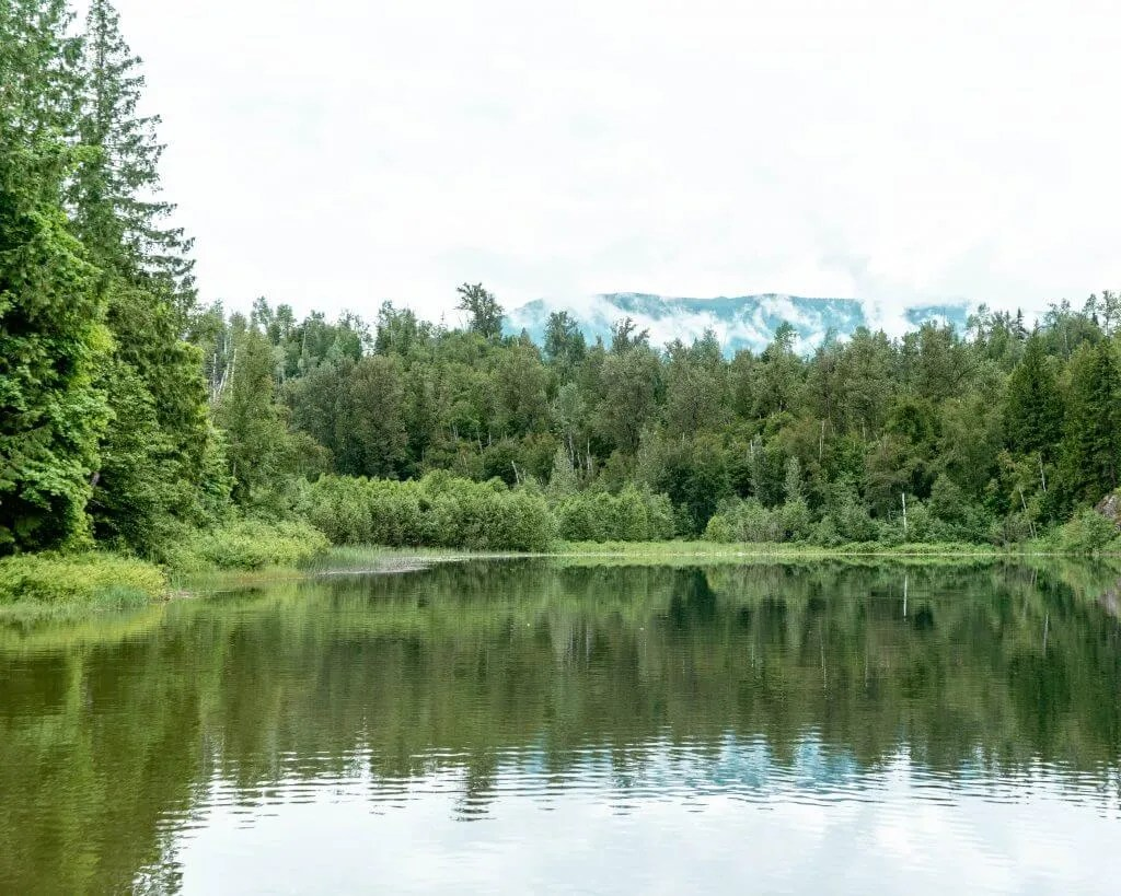 Gorgeous Echo Lake near Revelstoke.