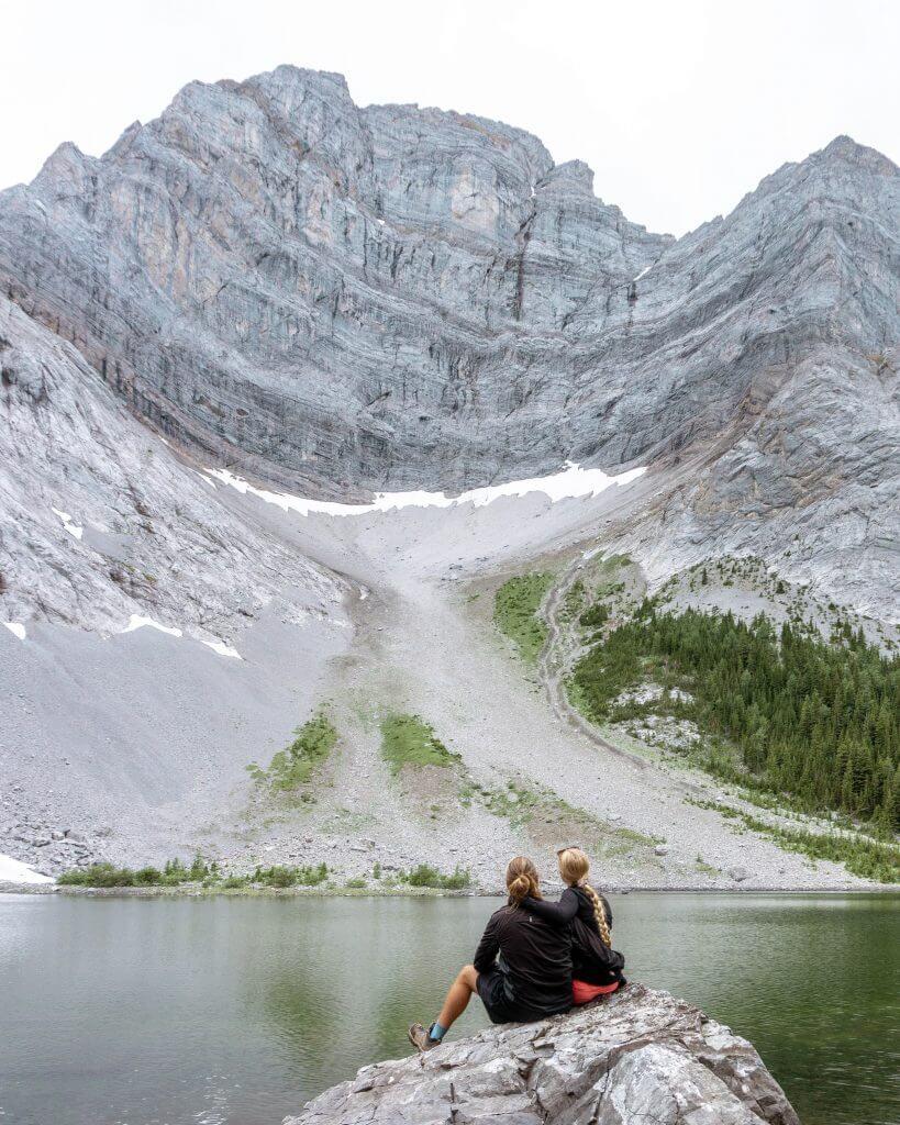 Famous Tombstone Lake in Alberta.