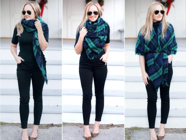 3 Ways to Wear a Blanket Scarf