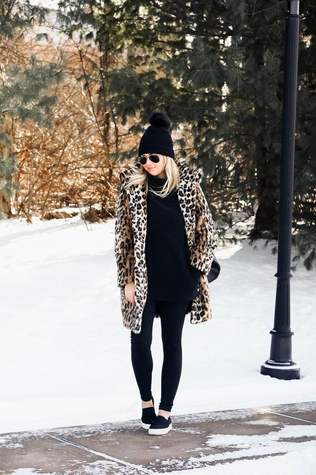 How To Wear A Fur Leopard Coat