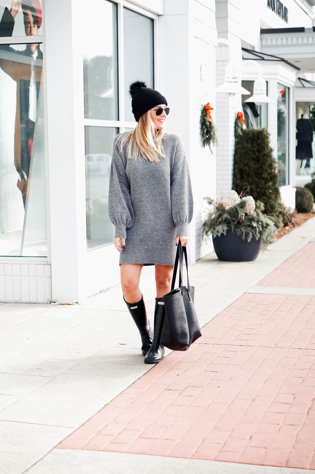 Sweater Dress Outfit Idea