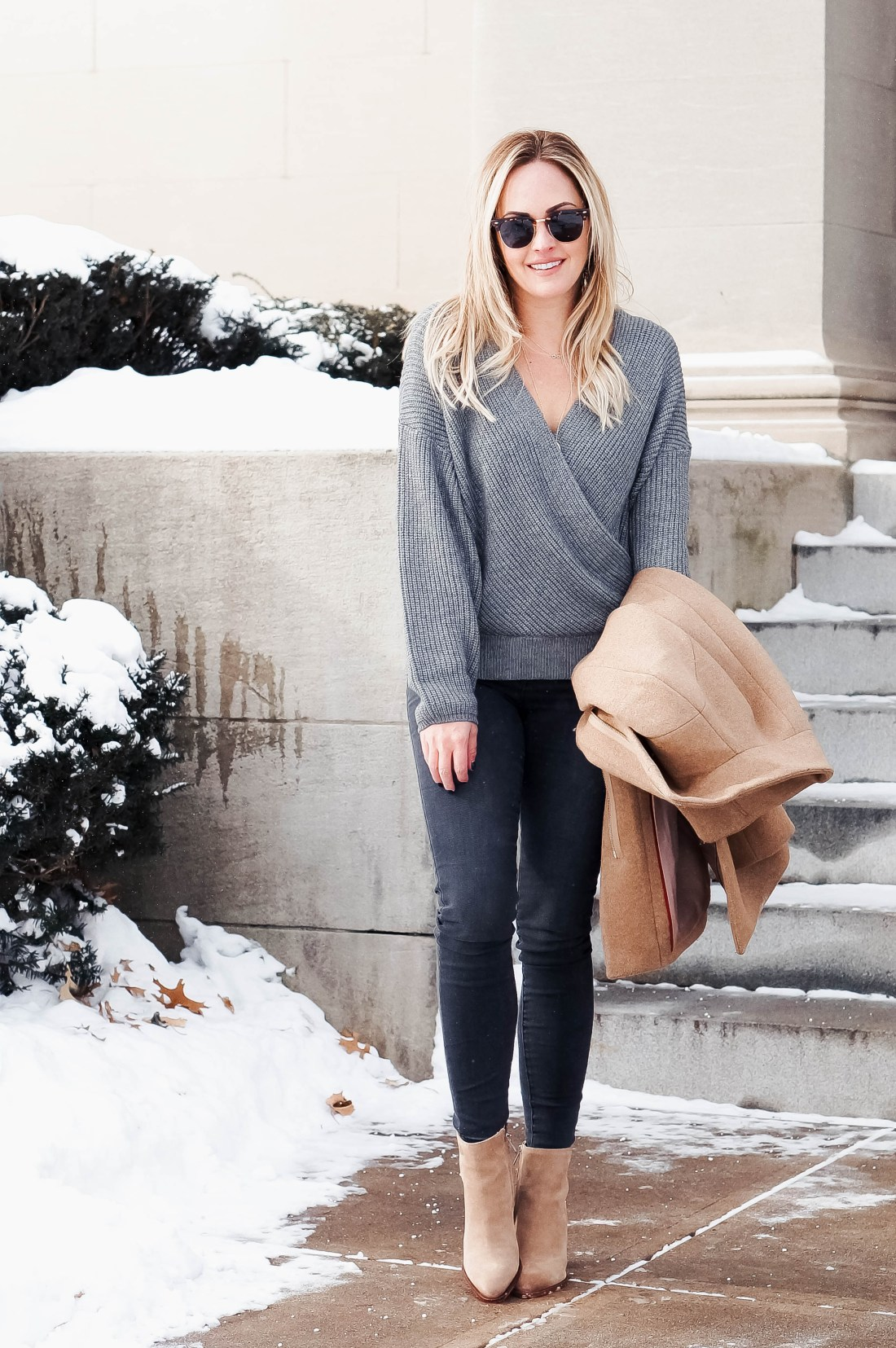 Grey on Grey Outfit Idea