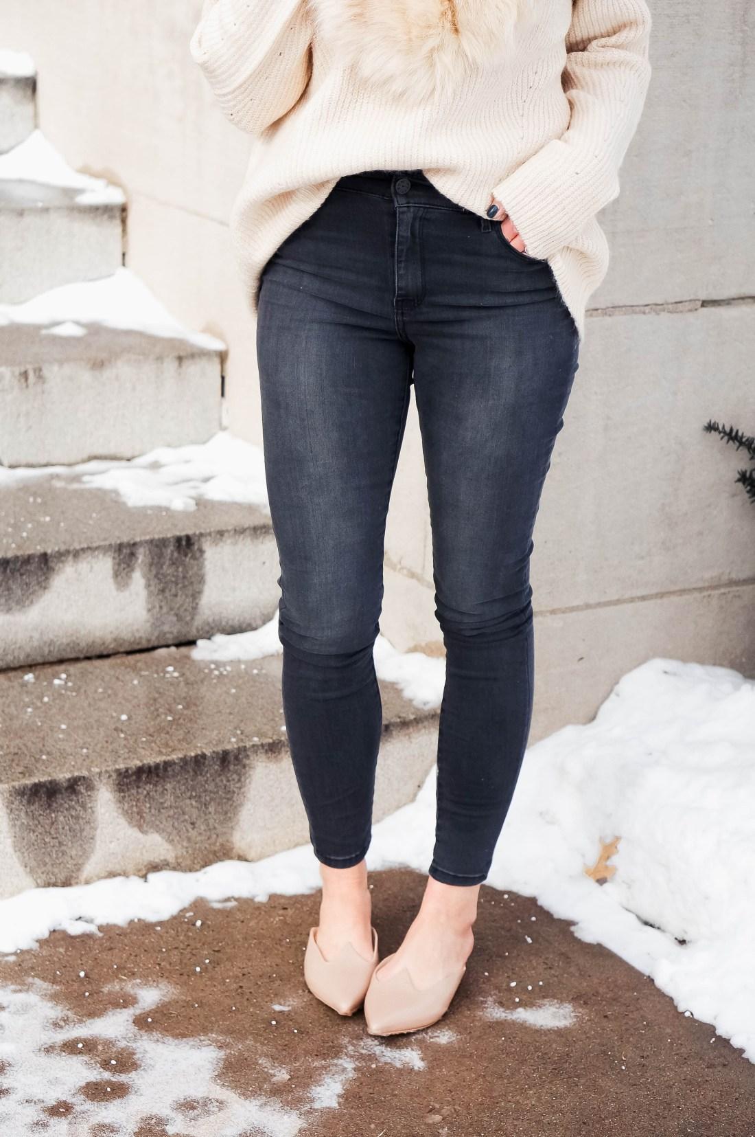 Grey Mott & Bow High Rise Jeans