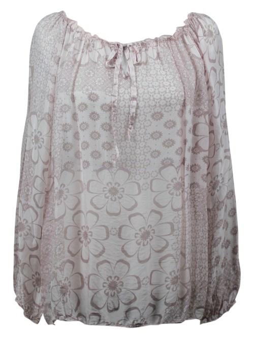 1b5f4adcb Top - Long Sleeve - Mesh Overlay - Abstract • Redwine Clothing Company