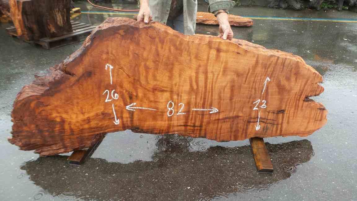 Rustic Live Edge Table - Burl Wood Table