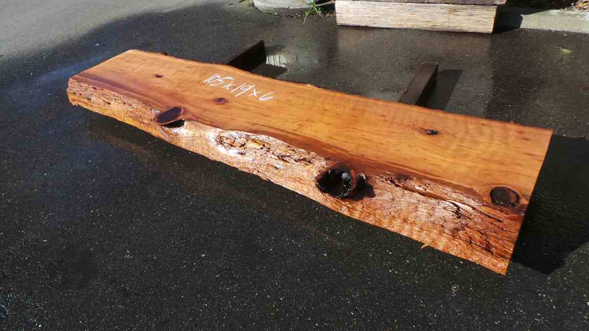 Solid wood mantel - old growth redwood