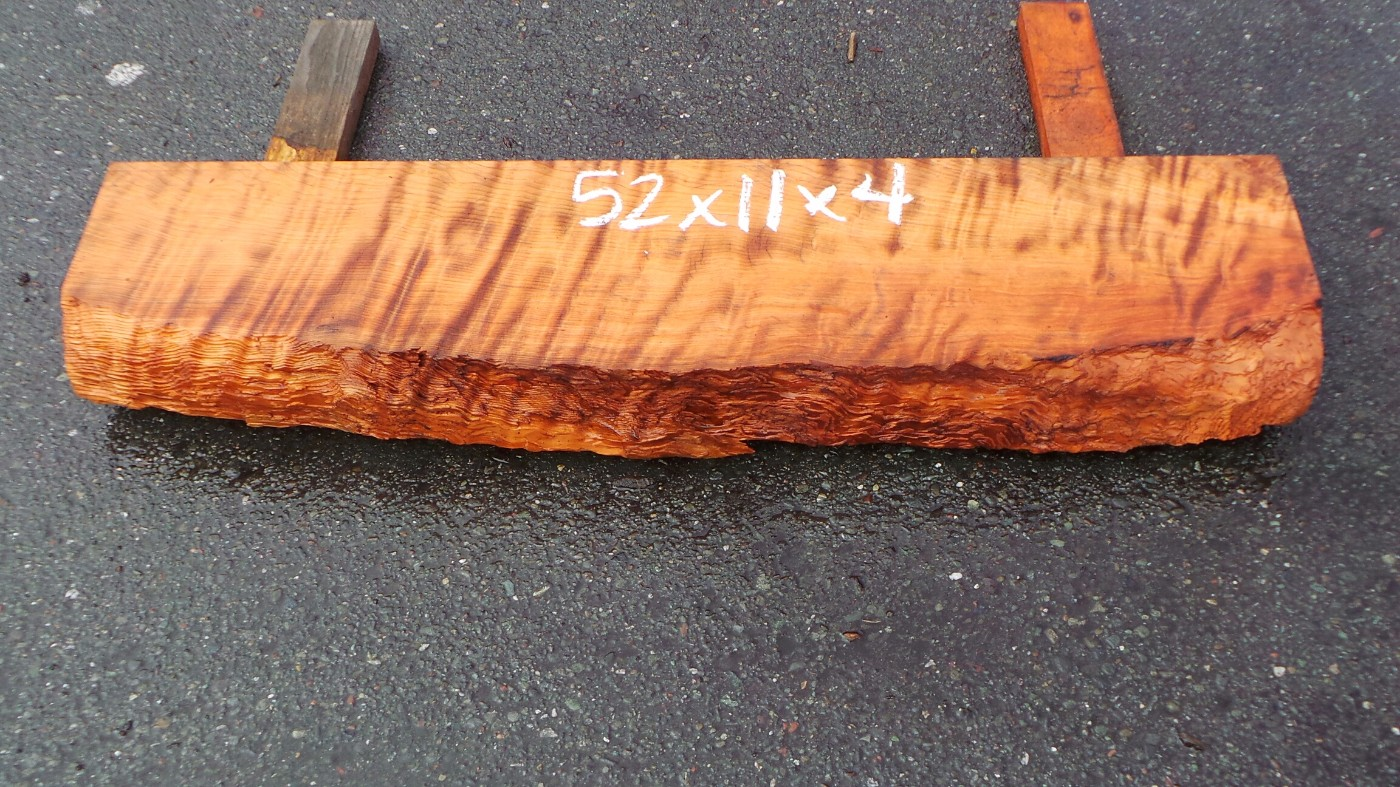 Curly Redwood Mantel - Naturally Round Edges Curl Grain Mantel