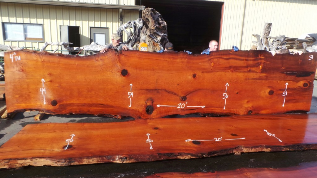 Large Old Growth Redwood Wood Slab Conference Table