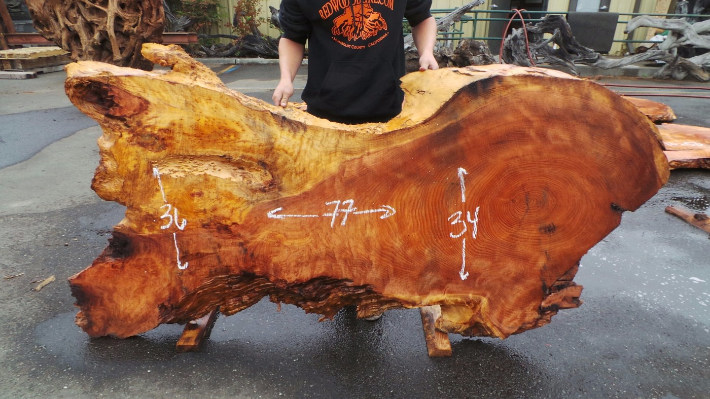 Redwood Slab Great For Table Top - Burl Furniture for Sale