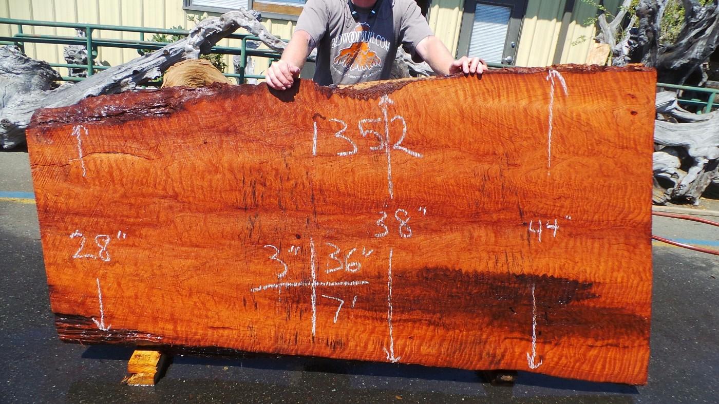 Natural Edge Wood Countertops Options - Counter Top Redwood Slabs