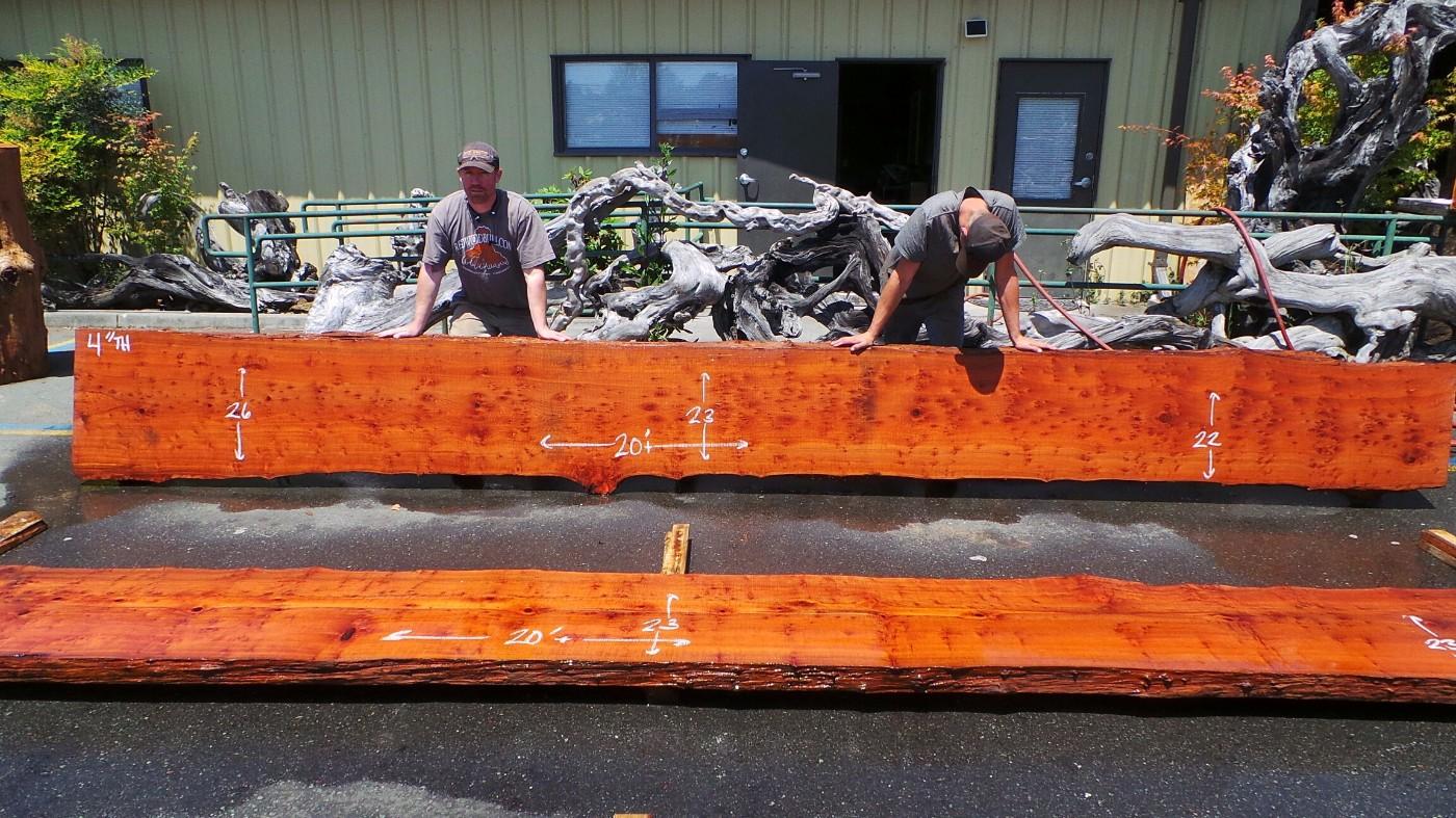 Redwood Large Custom Wood Countertops