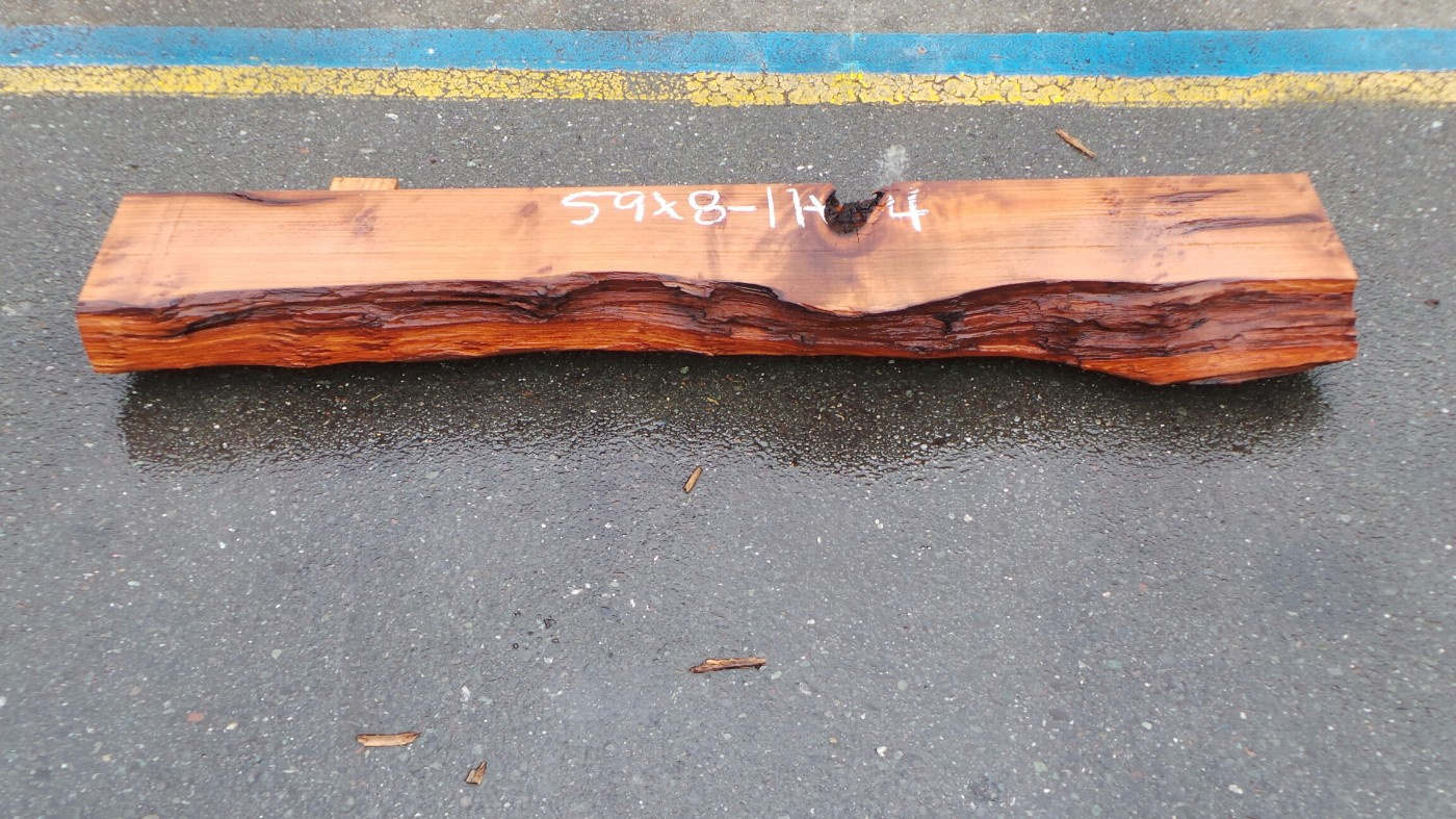 Live Edge Fireplace Mantel - Naturally Carved Void