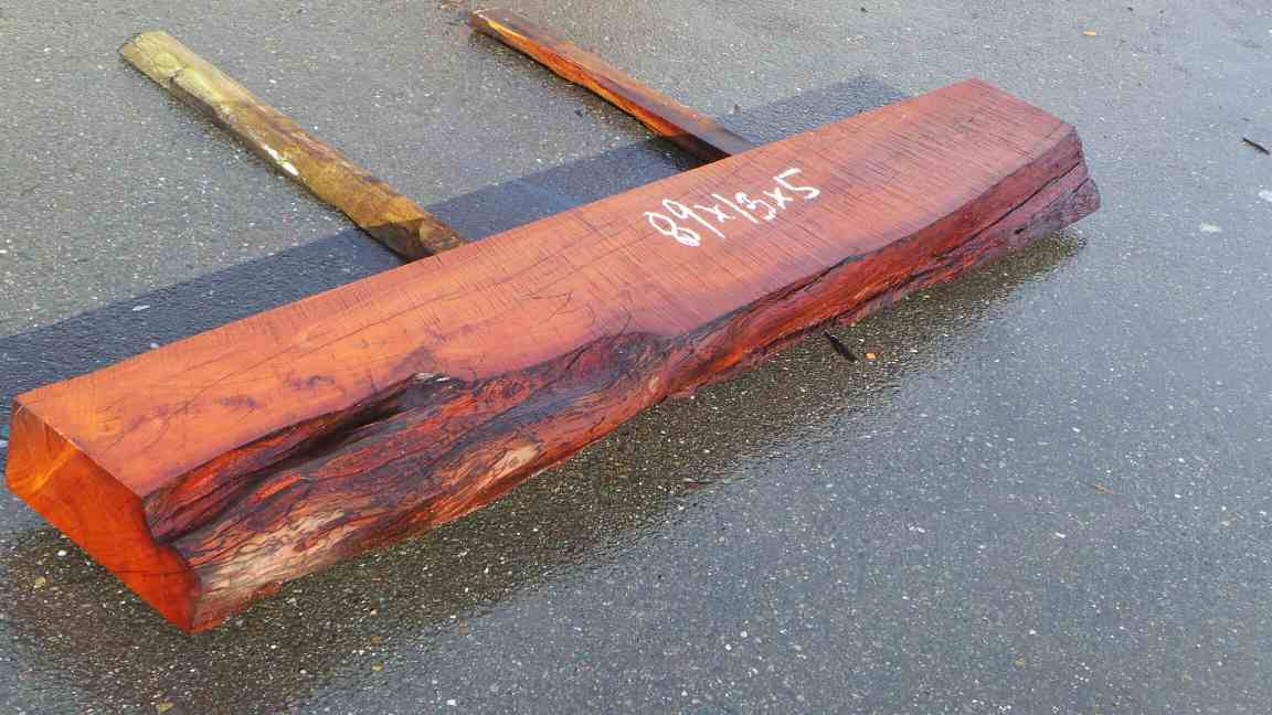 Fireplace Rustic Mantel Shelf - old growth redwood