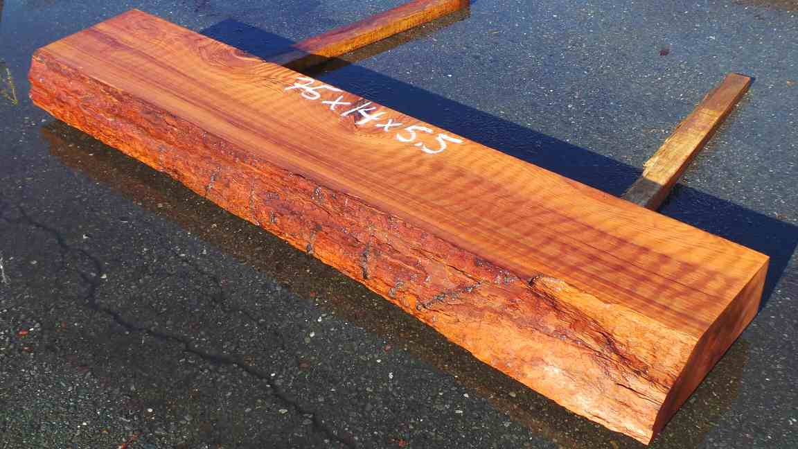Raw Redwood Curly Fireplace Mantel - Rustic Wood Furniture