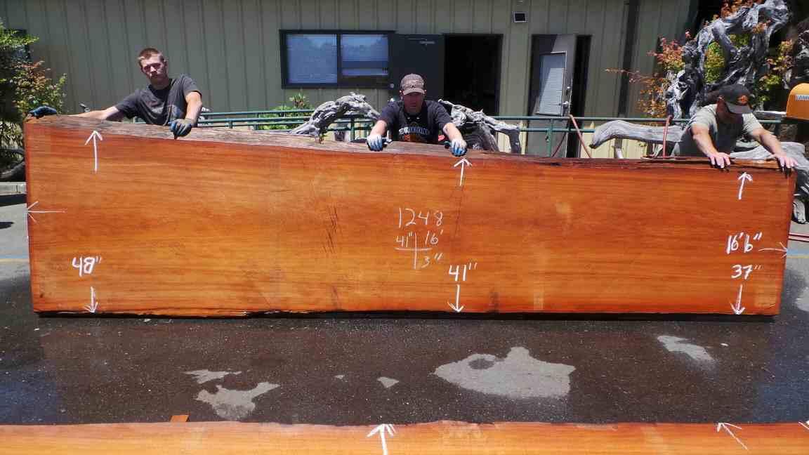 Old Growth Raw Wood Bar Furniture - Salvaged 16 Foot Wood Log