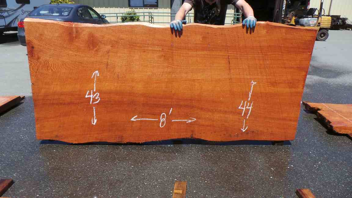 Natural Cut Wood Table Slab - Old Growth Redwood Slab for Dining Table