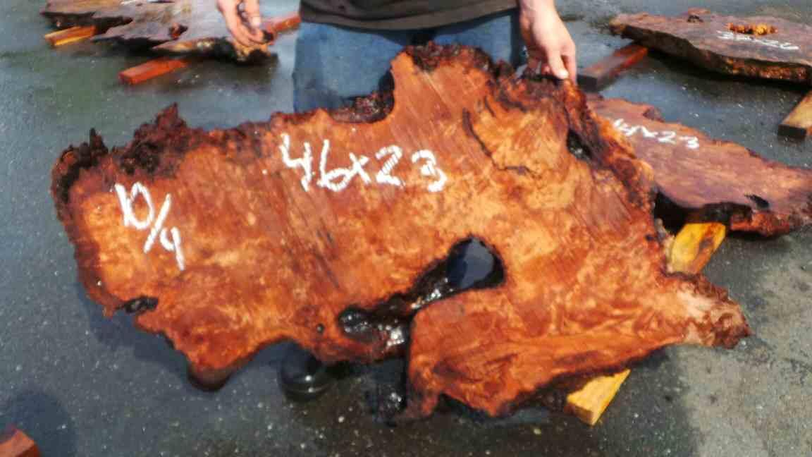Highly Figured Burl Slab - Redwood Burl For Table or Wood Wall Art