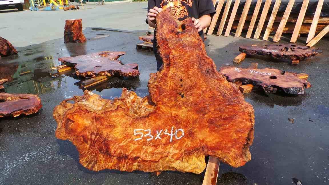Highly figured burl slab for art or woodworking