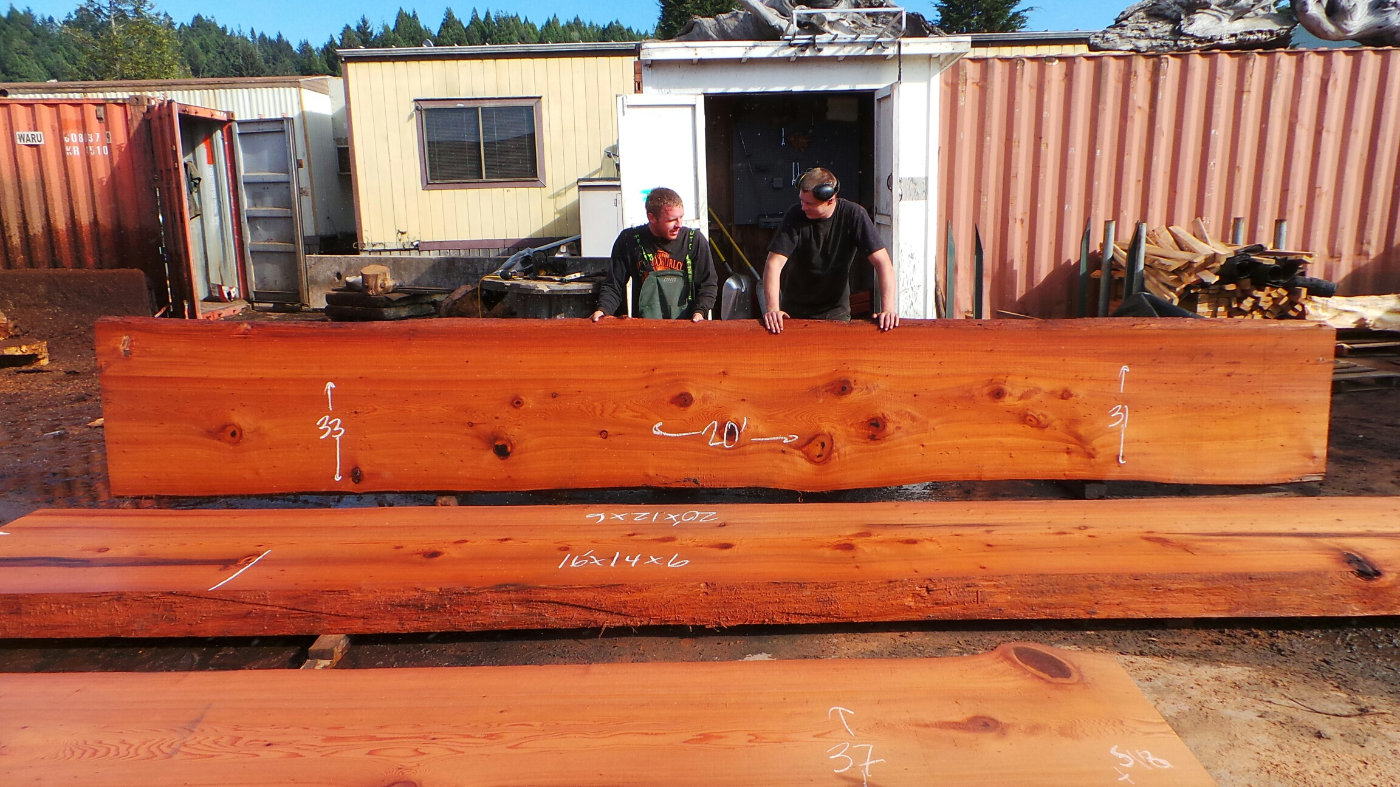 Redwood Slab for Kitchen Island or Bartop
