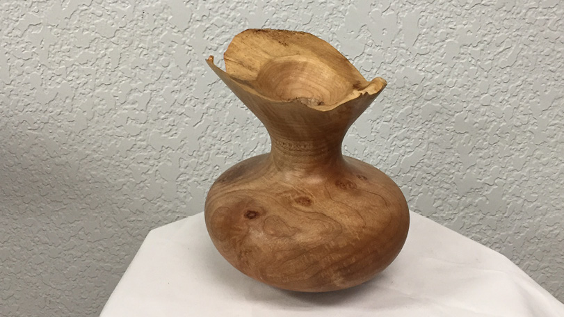 Maple Wood Display Vase - Raw Edge Flower Holder/ Decorative Cup