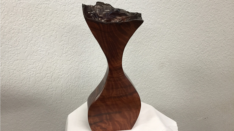 Hand Carved Redwood Burl Flower Vase - Decorative Burls