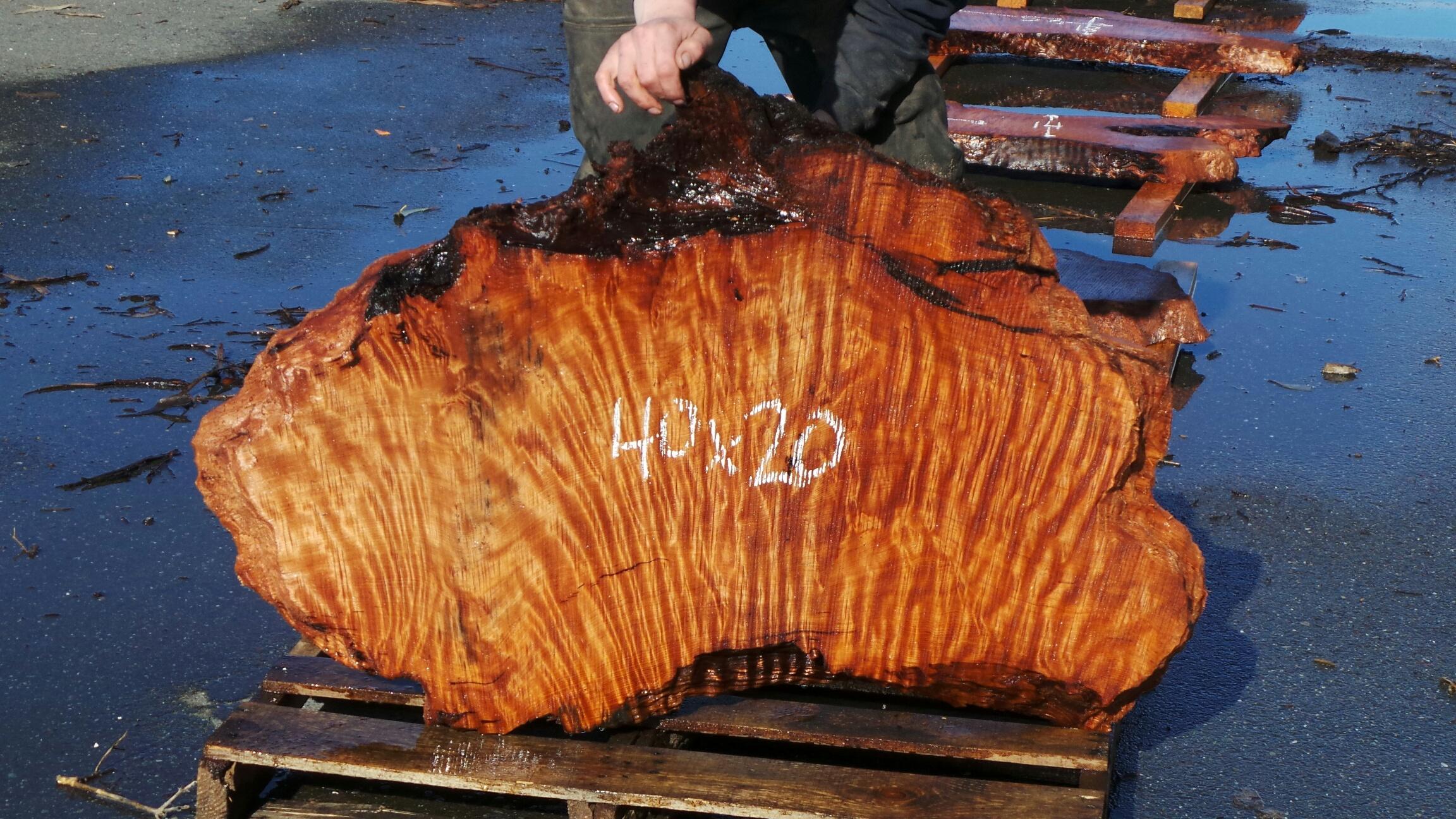Redwood Side Table Slab