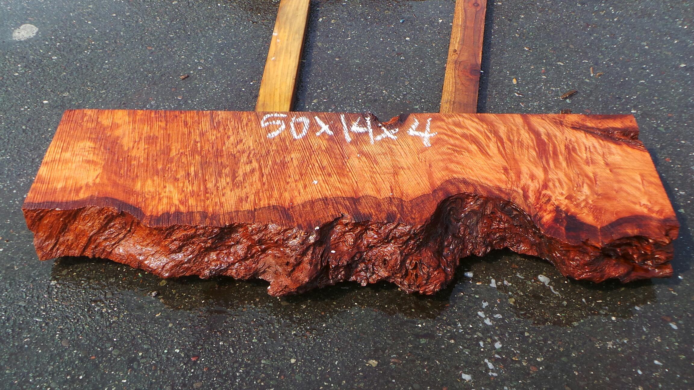Live Edge Redwood Mantel