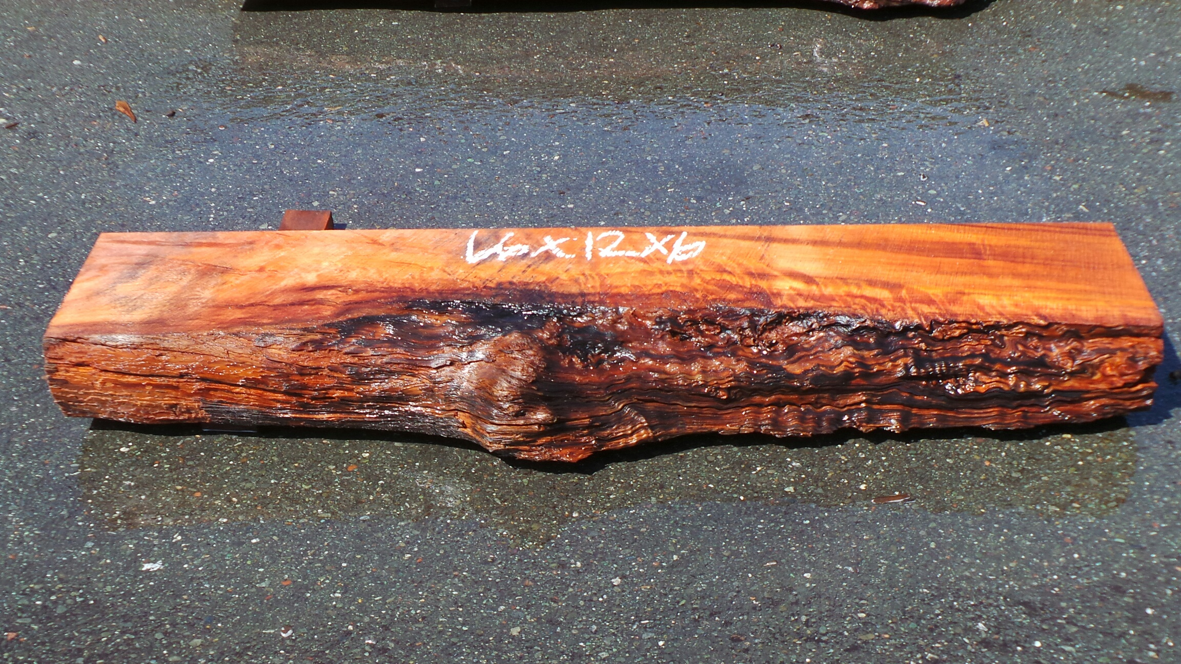 Raw Edge Wood Mantel - Decorative Shelving/Mounted Shelf