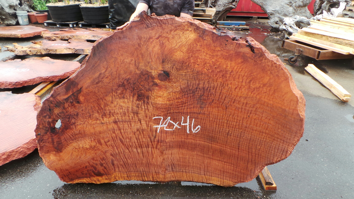 Curly live edge tabletop