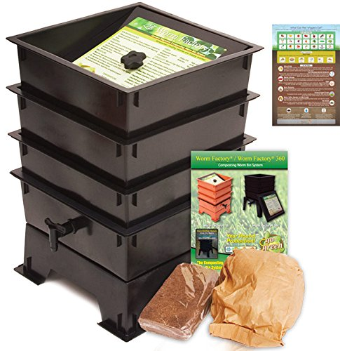 Worm Factory DS3BT 3-Tray Worm Composting Bin
