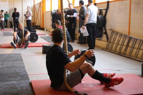 Rope Climb, Front Squat, Handstandwalk