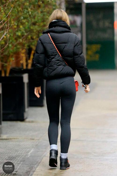 Lily-Rose Depp Reebok Freestyle black