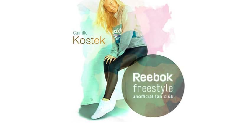 Camille Kostek, la elegancia con Reebok Freestyle