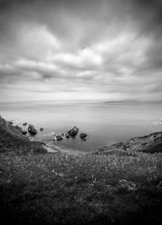 Chimney Rock Clouds & Ocean