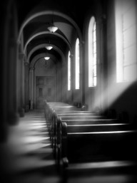 Inside Mission Dolores (Infrared)