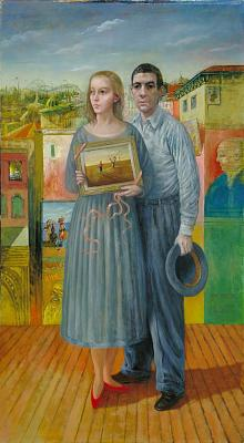 Portrait of the Artist and His Wife in Coney Island by Noel Rockmore (source: http://bit.ly/1dR5Atp)