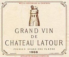 Label from Bottle of Chateau Latour, 1966 (source: http://bit.ly/1dR6gPl)