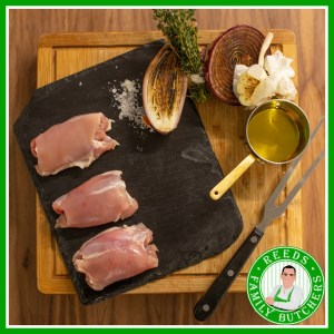 Buy Boneless Skinless Chicken Thighs x 8 online from Reeds Family Butchers