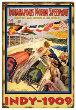 Comstock Park Speedrome Motor Speedway Reproduction Sign 12x18