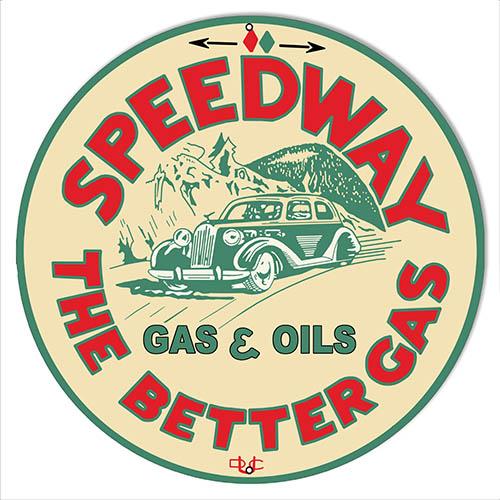 Speedway Motor Oil Reproduction Garage Shop Metal Sign 14